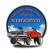 PONTIAC GTO Schild USA Drag Race Headers Blower sign Burnout retro V8 Sidepipes