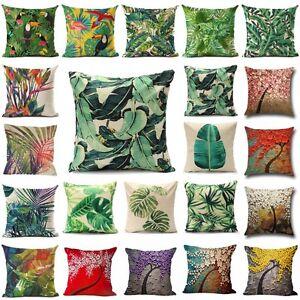 Floral-Tropical-Plant-Leaf-Cushion-Covers-Throw-Pillow-Case-Home-Sofa-Decor