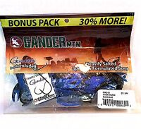 Gander Mtn 2.75  Black Blue Chunks 10 Lures/pack Chk2-03 Includes Gamakatsu Hk