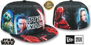 Details about The Last Jedi 'ALL-OVER GOOD VS EVIL' Fitted Hats by New Era  (HATLAND EXCLUSIVE)