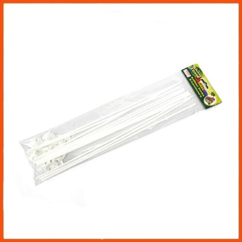 144 x WHITE BALLOON STICKS & HOLDERS 40cm Party Decorations Table Centerpiece