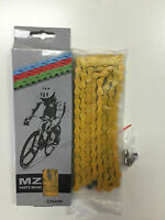 Bycicle Chain 1/2 X 1/8 Yellow Color Master Link Include