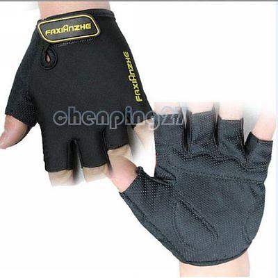 Fashion 3D Design Cycling Bike Bicycle Wearable Sports Half Finger Glove M-XL