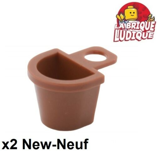 Lego 2x Minifig sac dos panier Container Basket marron//reddish brown 4523 NEUF
