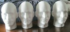 4 New Male Mannequin Styrofoam Foam Manikin Heads Model Wigs Hat Display Stand
