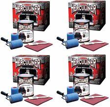 (4) ea Herculiner HCL1B8 1 Gallon DIY Pick Up Truck Brush On Bedliner Kits