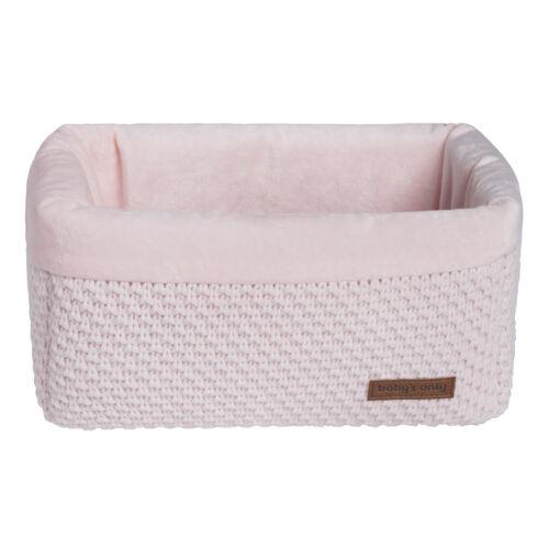 Babys Only Aufbewahrungskorb klassisch rosa Dekokorb Strick Wickkeltischkörbchen