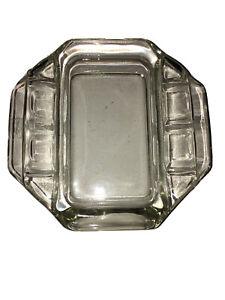 Vintage-Clear-Glass-Rectangle-Ashtray-6-Slots-Cigarette-Smoking-Tool-Ashtray-MCM