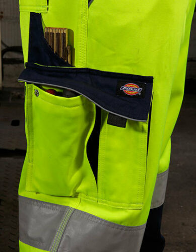 DICKIES SA30035 INDUSTRY Warnschutz Hose Bundhose Arbeitshose Straßenbau robust
