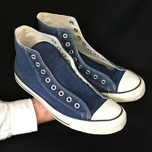 10b0bee97478 Vintage USA-MADE Converse All Star Chuck Taylor shoes sz 9.5 blue ...