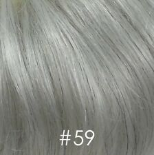 Gray Short Wavy Full Wigs for Men Black/Brown/Blond