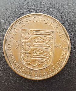 1946 George VI States Of Jersey 112 Of A Shilling Coin  High Grade - Clacton-on-Sea, United Kingdom - 1946 George VI States Of Jersey 112 Of A Shilling Coin  High Grade - Clacton-on-Sea, United Kingdom