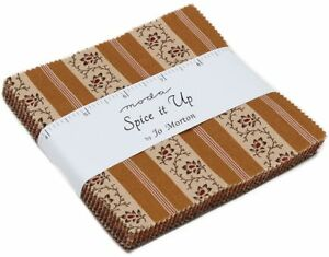 Spice-It-Up-Moda-Charm-Pack-42-100-Cotton-5-034-Precut-Fabric-Quilt-Squares