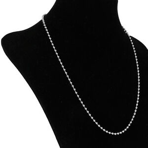 "21"" STAINLESS STEEL BALL BEAD CHAIN MENS NECKLACE 3MM"