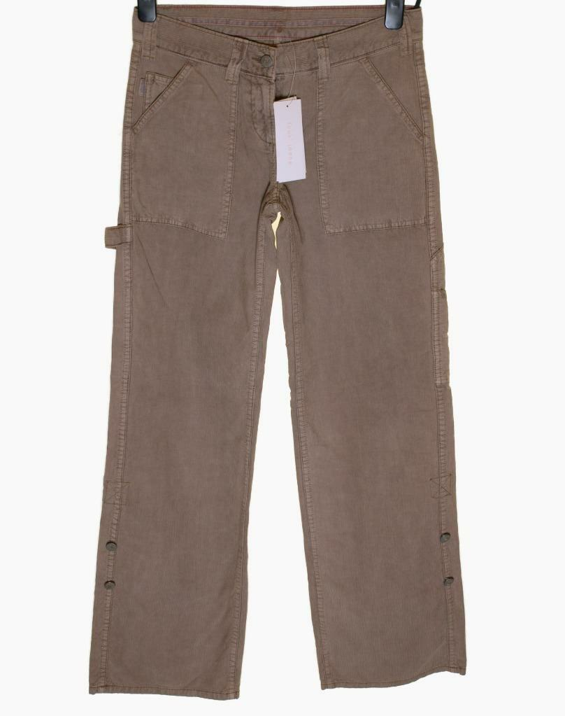 Bnwt Women's French Connection Vintage Corduroy Jeans Trousers New 3 4