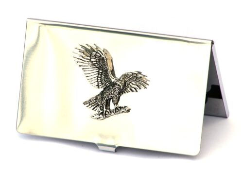 Eagle Landing Credit Card Tin Holder Falconary Gift 113