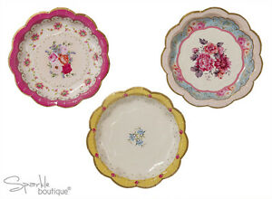 Image is loading TRULY-SCRUMPTIOUS-PAPER-PLATES-Vintage-Floral-Luxury-Tea-  sc 1 st  eBay & TRULY SCRUMPTIOUS PAPER PLATES -Vintage/Floral/Luxury -Tea Party ...