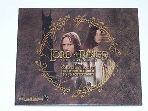 LORD OF THE RINGS THE TWO TOWERS BOX SET OF 8 DOUBLE SIDED POSTERCARDS POSTCARDS