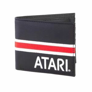 Atari-Logo-Black-Bi-Fold-Wallet-with-Webbing-Detail-Retro-Coin-Pocket