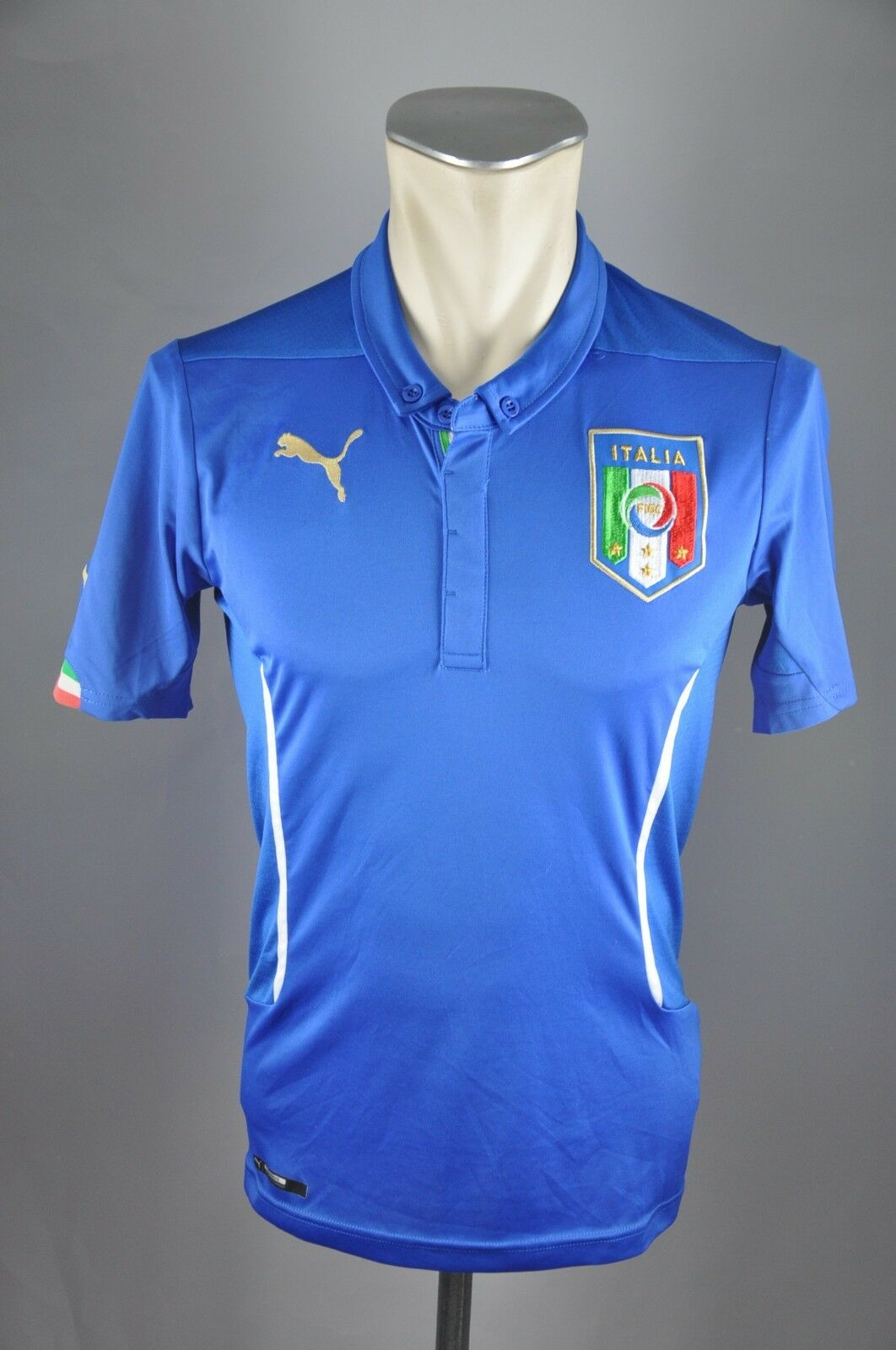 Italien Trikot 2014 Gr. S Puma Puma Puma Jersey WM EM Shirt Home blau Italia  b568b5