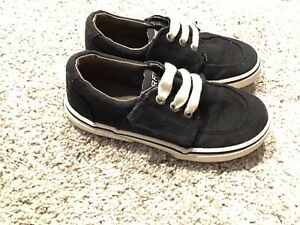 SPERRY-OLLIE JR./BLACK Boys 9.5 M Shoes