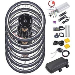 36V 250W 500W E Bike Motor Conversion Hub 27.5 28 29 inch Electric Bike Kit LCD8