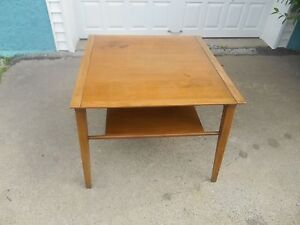 Details About Mid Century Modern Drexel Profile End Lamp Table By John Van Koert