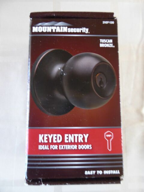 Mountain Security Ball Style Keyed Entry Door Knob Tuscan Bronze
