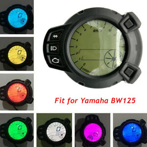 12v Motorcycle LCD Speedometer Tachometer Gauge For Yamaha BWS125 Colorful