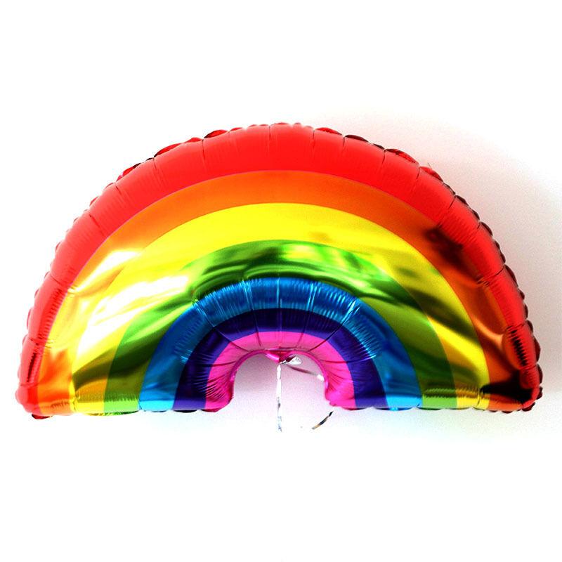 [] 1pc gigante Rainbow Foil XM Globo Baby Shower Niños Decoración Fiesta De Cumpleaños