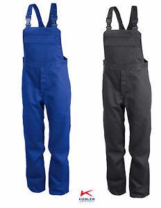 Latzhose-Arbeitshose-Schweisserschutzhose-PSA-2-Kuebler-Groessen-44-110-in-2-Farben