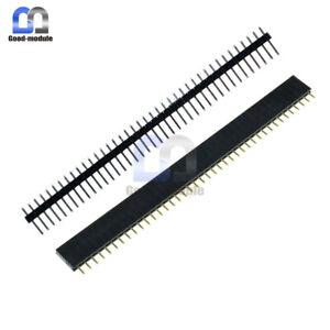 10PCS-Male-amp-Female-40Pin-Header-Socket-Row-Strip-PCB-Connector-Cool-2-54mm