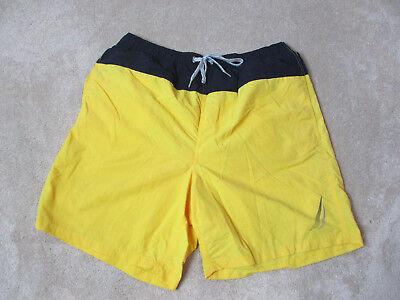 Vintage Nautica Swim Trunks Shorts Size Adult Large Yellow