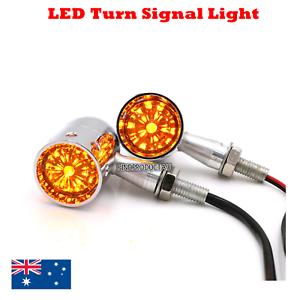 4x-Chrome-LED-motor-Turn-Signal-indicator-Light-Harley-Ultra-Tour-Glide-Classic