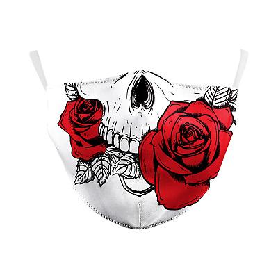 Mundschutz Rosen Zähne Grinsen Skull Rockabella Maske ...