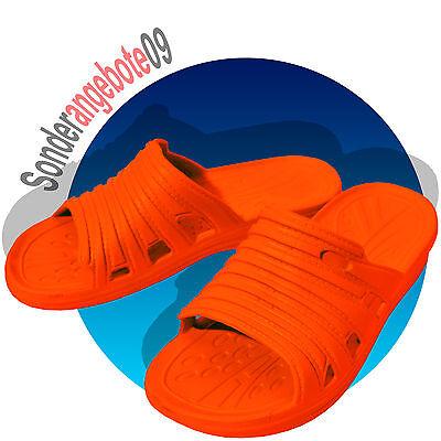 EVA Badelatschen Orange Badeschuhe Gr.36 37 38 39 40 41 Hausschuhe Pantoletten