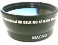 Wide Lens For Sony Hdr-sr8e Hdrsr8e Hdr-sr7e Hdrsr7e