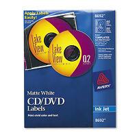 Avery Inkjet Cd Labels Matte White 40/pack 8692