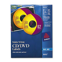 Avery Inkjet Cd Labels Matte White 40/pack 8692
