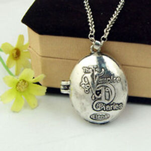 THE-VAMPIRE-DIARIES-DIARIO-DEL-VAMPIRO-ELENA-KATHERINE-COLLANA-CIONDOLO-NECKLACE