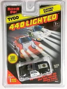 1996 Tyco 440 Magnum Rare Lighted Mustang 5 0 Police Slot Car Lit