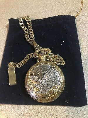 "Modern Radient Classic ""sergio Valente"" Eagle Theme Pocket Watch"