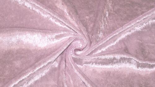 Rosa Bebé tejido de terciopelo machacado material elástico 2-Way Brillo Vestido De Terciopelo