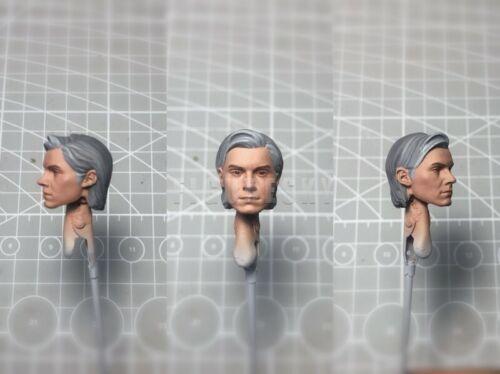 """Painted Service 1//12 Quicksilver Evan Peters Head Sculpt for 6/"""" ML Mez One:12"""