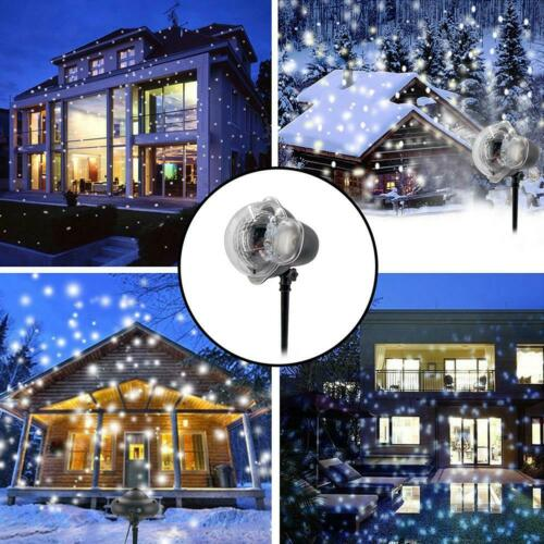 12Patterns Christmas Outdoor Landscape Xmas LED Lamp Laser Fairy Projector Light