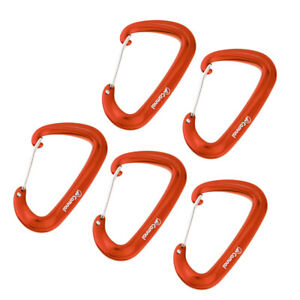 5x Hammock Yoga Safety Carabiner Hook D Type Camping Hiking Backpack Buckle