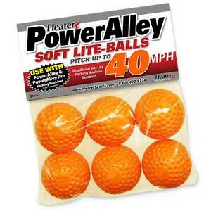 Heater Sports Poweralley 40 Mph Orange Lite Baseballs