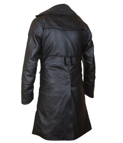 Fur Lapel Collar Trench Leather Coat Officer K Blade Runner 2049 Ryan Gosling