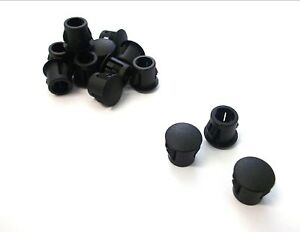 *Top Quality! Domed blanking grommets 17.5mm Caps Round end Pack of 6