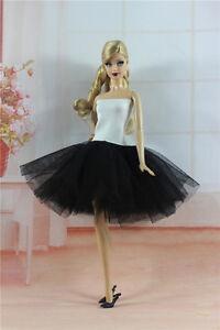 4 PCS Random Lovely Colorful Clothes//Ballet dress tutu Skirt For 11.5in.Doll #01